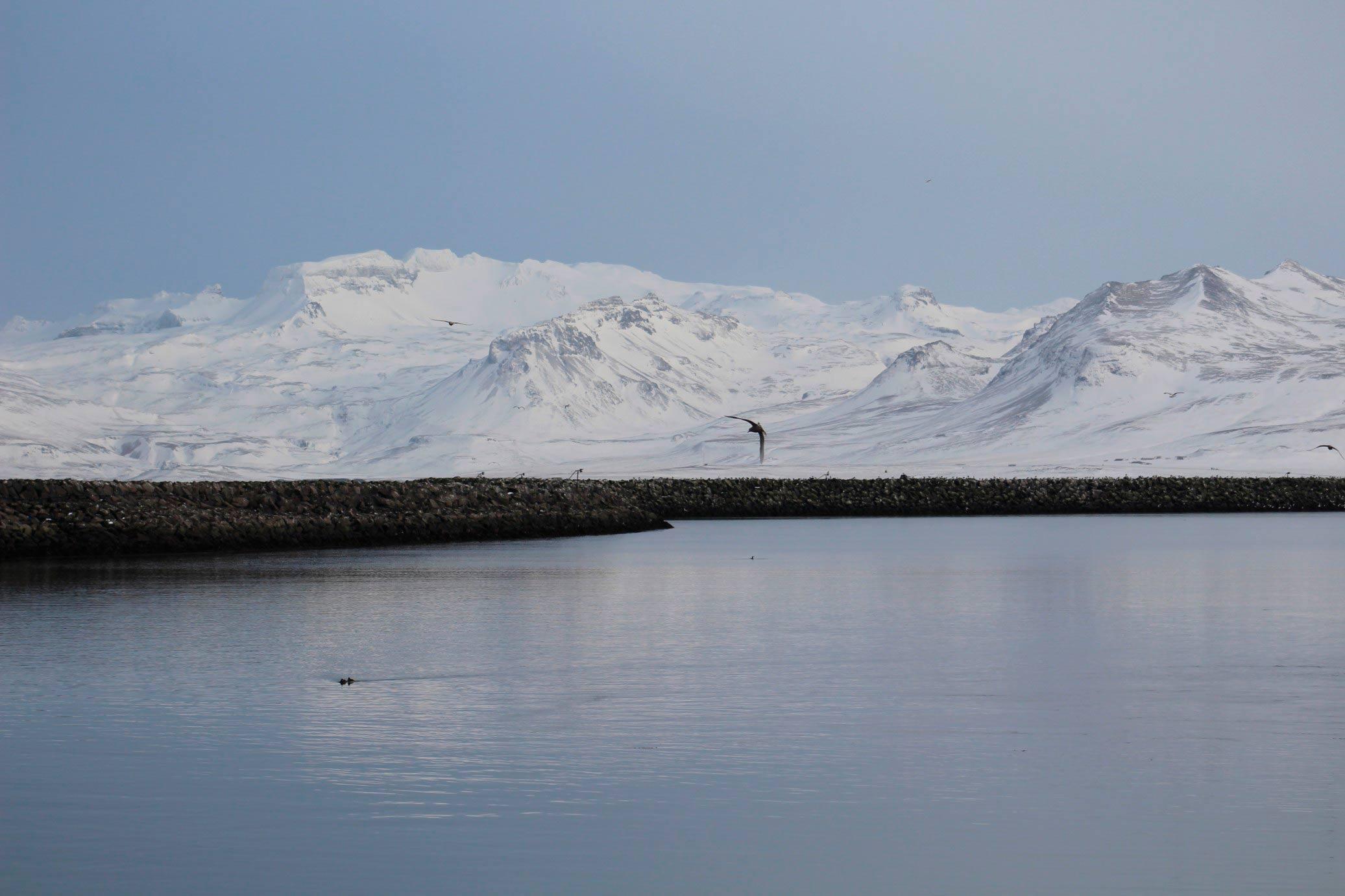 La península de Snæfellsnes está situada en el oeste de Borgarfjörður, en el oeste de Islandia.